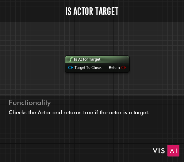 Is Actor Target Function - Checks the Actor and returns true if the actor is a target.