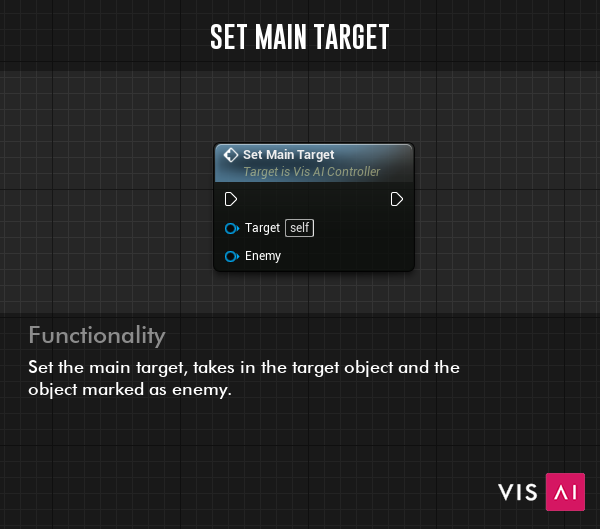 Set Main Target Event - Set the main target, takes in the target object and the object marked as enemy.